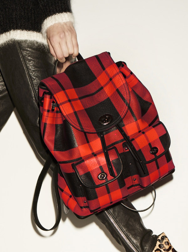 blog plaid coach bag